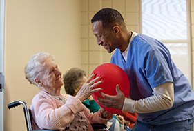 Photo Of Physical Therapy At Nursing Home In New Orleans - St. Luke's Living Center
